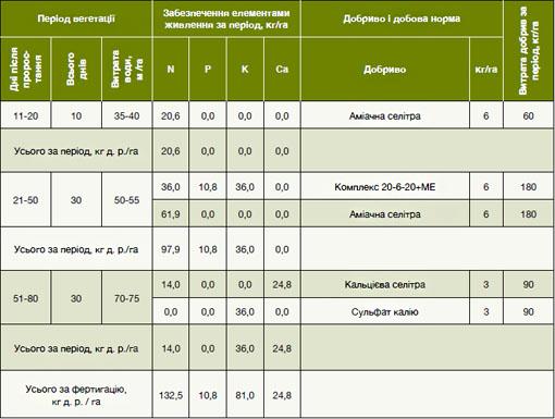 Схема орошения и фертигации
